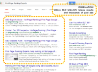First Page Ranking Experts, above 68.9m and thousands of paid ads.png
